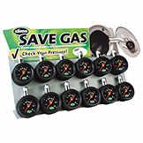 Slime® 5-60 PSI Dial Tire Pressure Gauges on Metal Display PER 20055