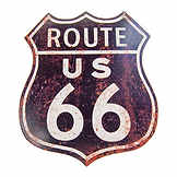 Vintage tin sign - Route 66  - 35 x 40 cm CIC 40078PKA
