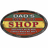 Vintage tin sign - Dad's Hot Rod Shop - 33 x 56 cm CIC 40215PKA
