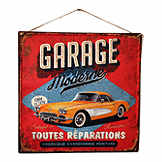 Vintage tin sign - Garage Moderne 1924 - 38 x 38 cm CIC 40216PKA