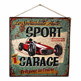 Vintage tin sign - Sport Garage - 38 x 38 cm CIC 40217PKA