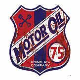 Vintage tin sign - Motor Oil - 30 x 35 cm CIC 40223PKA