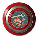 Vintage tin sign - My Garage My rules - 48 cm diam. CIC 40229PKA